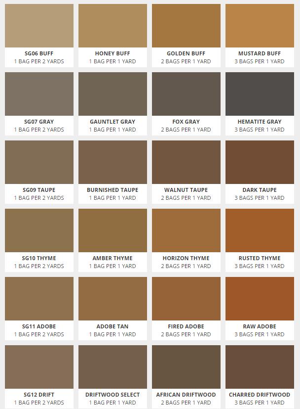 Color Options Reale Cement Construction